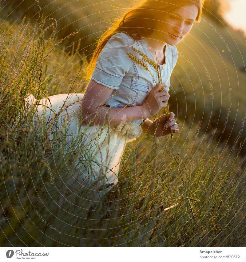 ::14-20:: Kind Natur Ferien & Urlaub & Reisen Jugendliche Sommer Junge Frau Gesunde Ernährung 18-30 Jahre Erwachsene Leben feminin Gesundheit Gesundheitswesen Freizeit & Hobby Feld Zufriedenheit