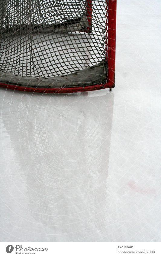 ruhe vor dem sturm Mensch kalt Sport Spielen Eis Freizeit & Hobby Hintergrundbild frisch Frost Netz Spuren Tor Doppelbelichtung Sportveranstaltung Glätte Entf