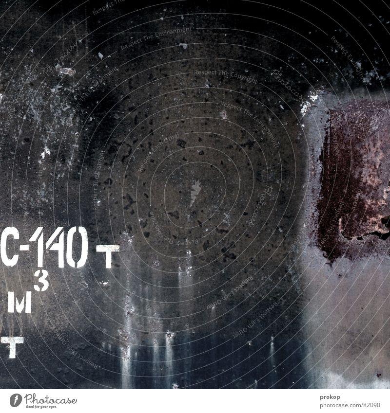 Rostwerk Mathe dunkel Hintergrundbild Schilder & Markierungen Industrie Sicherheit Schriftzeichen Metallwaren Buchstaben Stahl Typographie Gewicht hart
