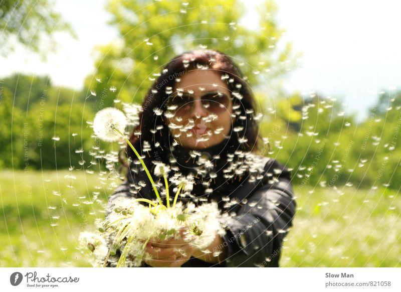 Sommermärchen Mensch Frau Natur Jugendliche Pflanze schön 18-30 Jahre Erwachsene feminin Blüte Gesundheit Fitness Romantik Krankheit Körperpflege