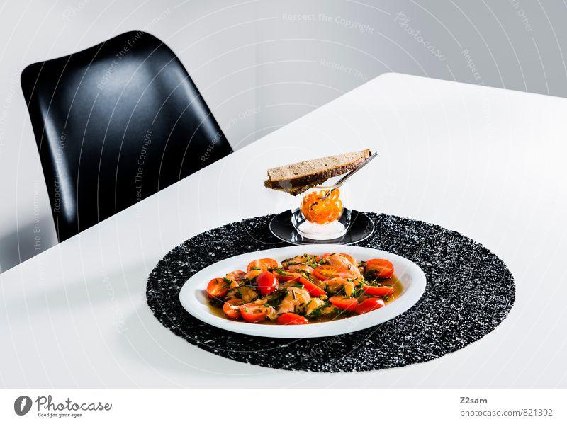 Lachs Bescheidenheit rot kalt Innenarchitektur Stil Gesundheit Lebensmittel elegant Design modern frisch ästhetisch genießen Tisch einfach Sauberkeit