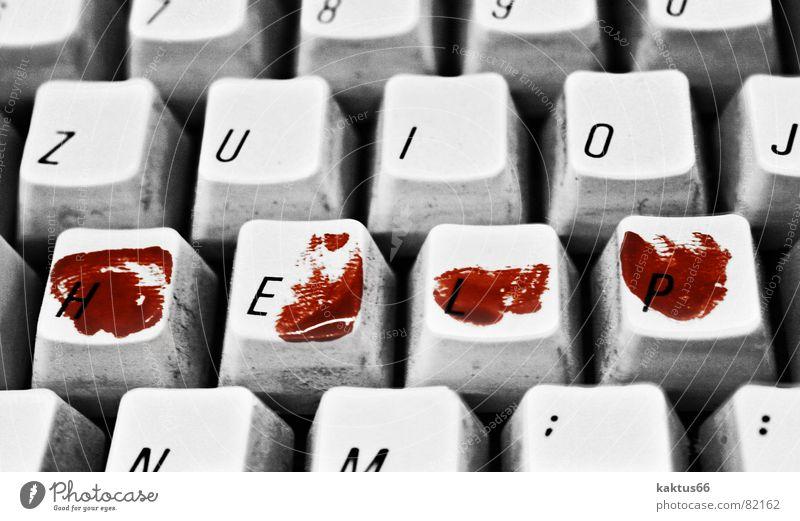 Abschiedsbrief ? alt weiß rot schwarz Arbeit & Erwerbstätigkeit dunkel Traurigkeit Business Computer Informationstechnologie Finger Buchstaben Trauer Zeichen gruselig schreien