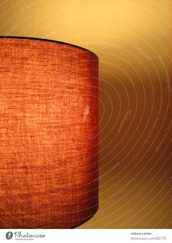 retro nr 67 Lampe Ambiente Erholung Wohlgefühl ausschalten Wand Wohnzimmer orangenes gedämpftes Licht entspannte Stimmung Regenschirm