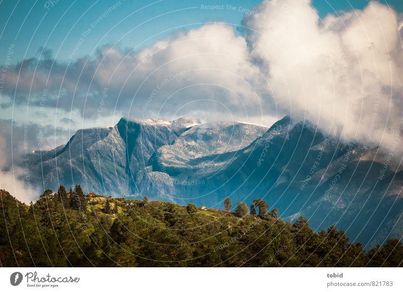 Mountains Himmel Natur Ferien & Urlaub & Reisen Pflanze Sommer Sonne Baum Einsamkeit Landschaft Wolken Ferne Berge u. Gebirge Freiheit Horizont Luft Tourismus