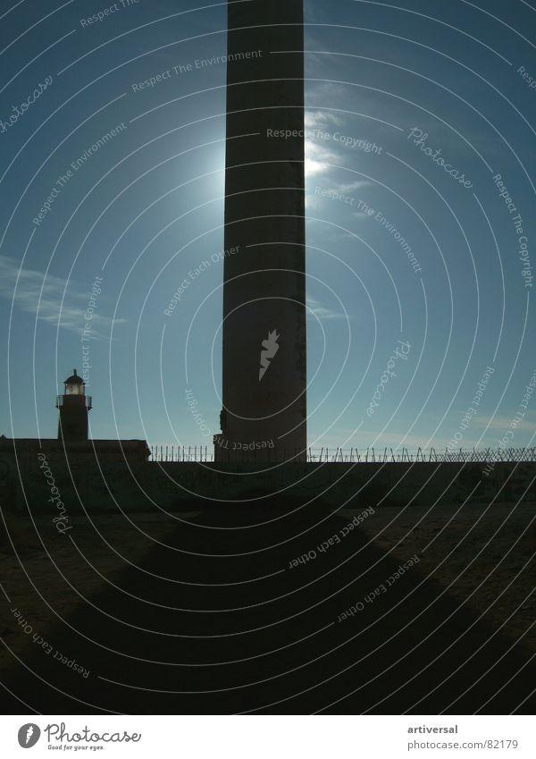 Leuchtturm Lanzarote Himmel Sonne Meer Turm Hafen