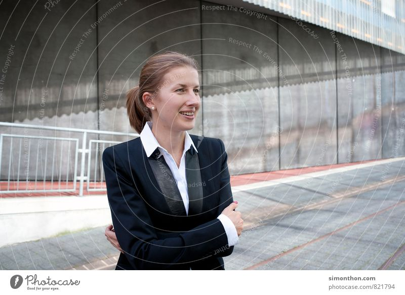 Business Woman Wirtschaft Industrie Güterverkehr & Logistik Kapitalwirtschaft Unternehmen Karriere Erfolg Sitzung sprechen Team Feierabend feminin 1 Mensch