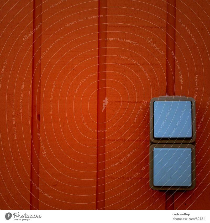 doppelgänger Wand Holz Mauer See orange Elektrizität Schalter Haushalt Holzmehl