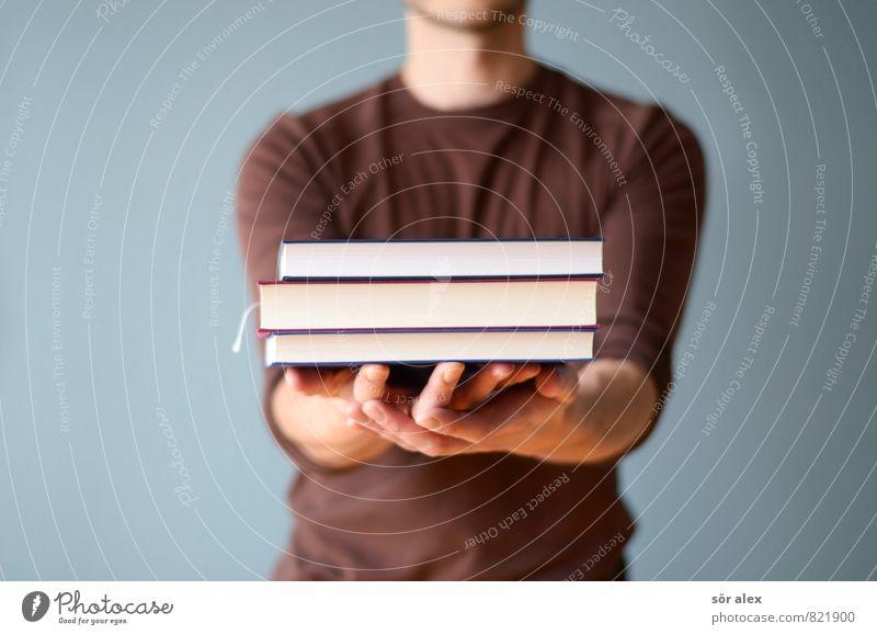 Bildungsangebot Mensch Jugendliche Hand Junger Mann Erwachsene Leben sprechen Schule maskulin Business Erfolg Buch Studium lernen lesen Bildung