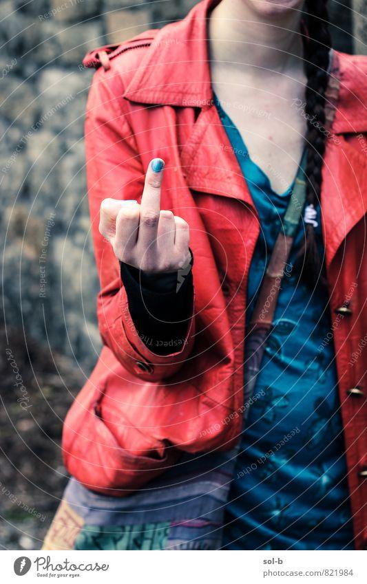 Mensch Kind Jugendliche Junge Frau Hand 18-30 Jahre Erwachsene feminin Mode Lifestyle wild 13-18 Jahre verrückt Kommunizieren Finger Coolness