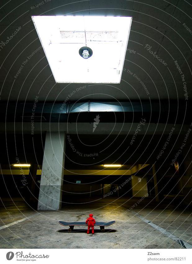 voodoostyle rot Skateboarding Puppe Garage Belichtung Parkdeck
