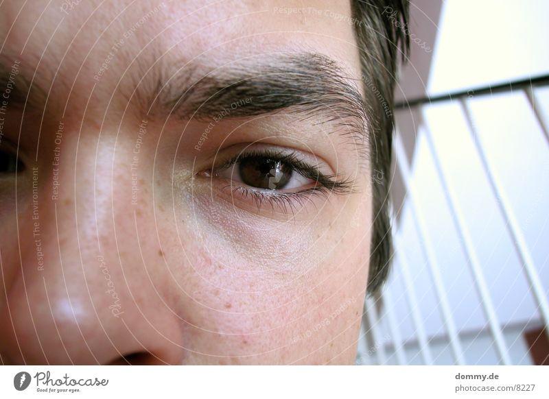fehler Mann Auge Treppe Müdigkeit Geländer