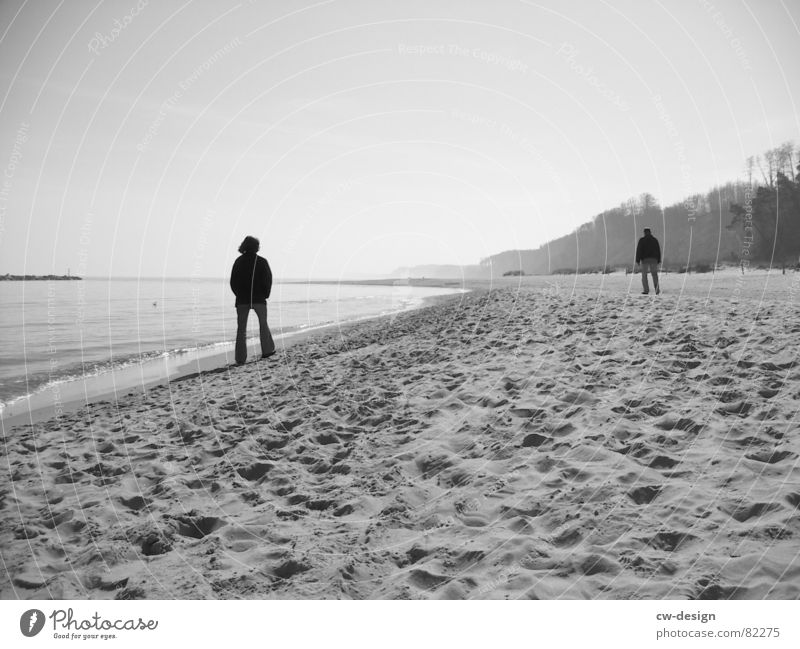 noch meer... Mensch Frau Himmel Mann Wasser Sommer Sonne Meer Strand schwarz Ferne Küste Sand Horizont Luft maskulin
