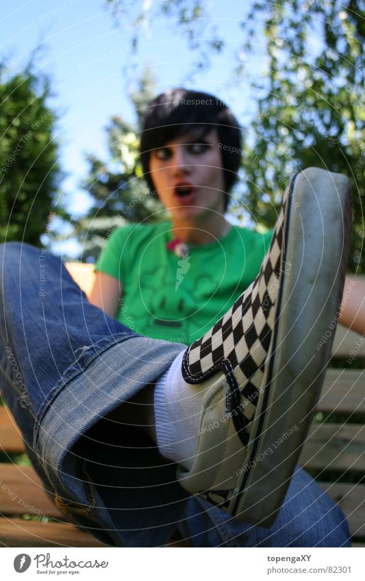 schöner schuh + meine liebe sis grün Sommer Garten Haare & Frisuren Fuß Schuhe Langeweile Schaukel Lieferwagen