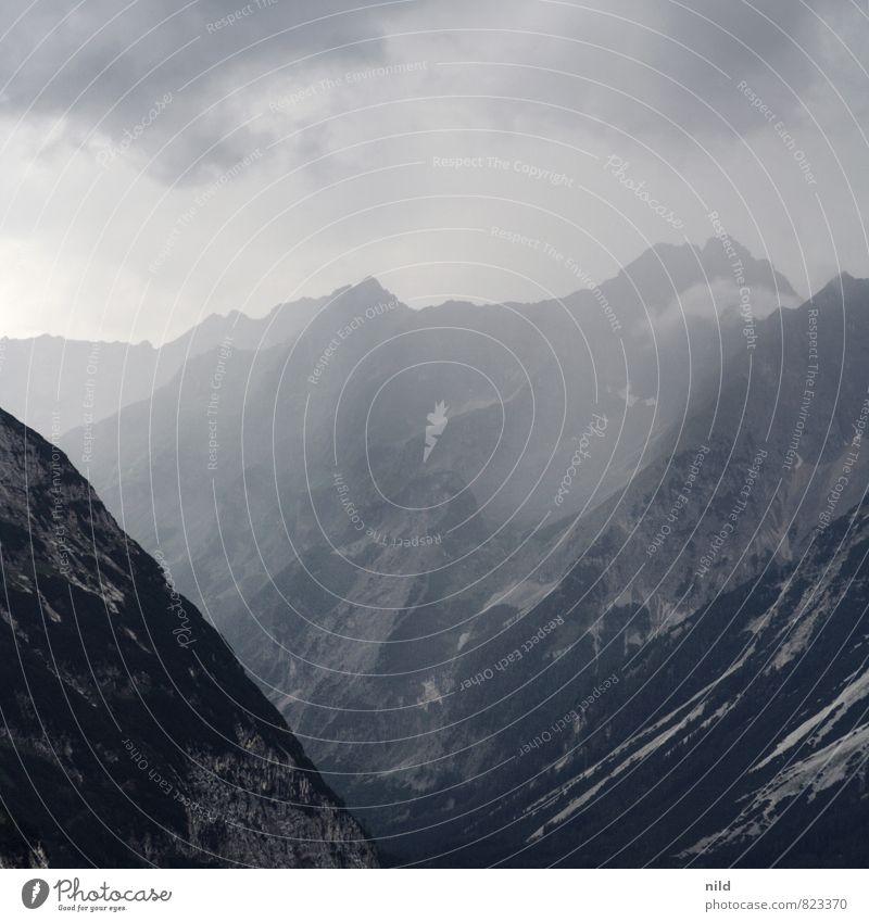 Karwendel Natur Ferien & Urlaub & Reisen Pflanze Sommer Erholung Landschaft Wolken Ferne Umwelt Berge u. Gebirge grau Freiheit Freizeit & Hobby Wetter Tourismus