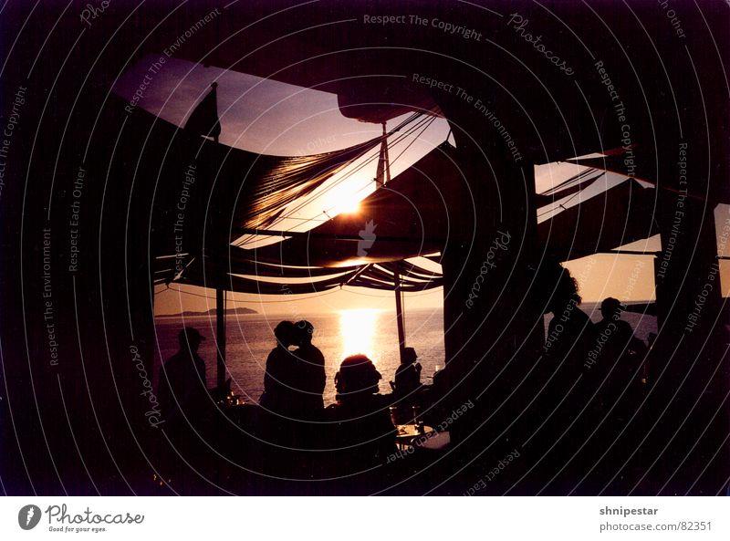 Live @ Café del Mar No.3 Mensch Ferien & Urlaub & Reisen Sonne Sommer Meer Freude Strand Ferne Erholung dunkel Wärme träumen Paar Zufriedenheit Freizeit & Hobby