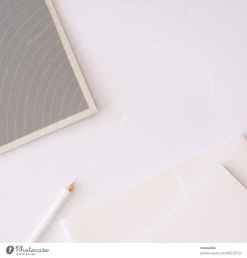 schön weiß grau Kunst Arbeit & Erwerbstätigkeit Business Lifestyle Büro Design modern Tisch Kreativität Papier Idee kaufen Hochzeit