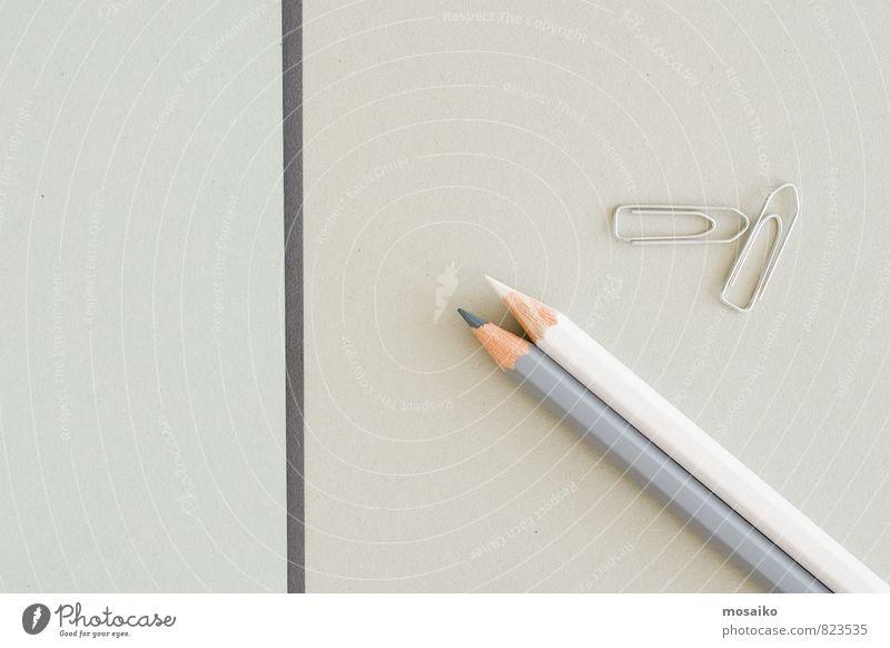 Büroalltag weiß Stil Hintergrundbild grau Business Design elegant Büro Ordnung Hinweisschild Kommunizieren Idee Papier planen Bildung streichen