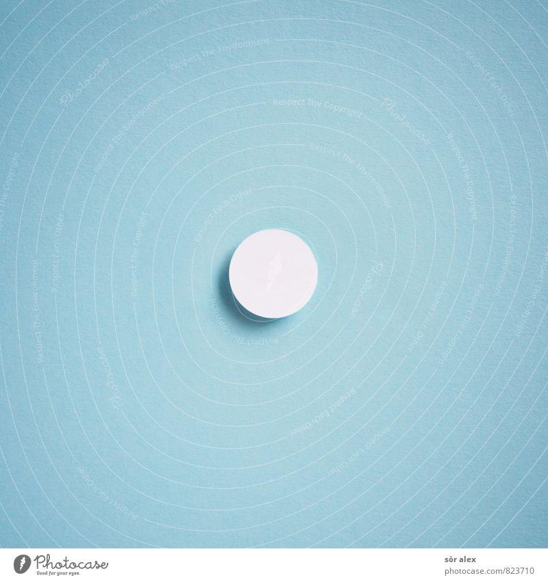 Punkt Kapitalwirtschaft Karriere Erfolg sprechen Zeichen Kreis rund blau weiß zielstrebig kreisrund wirksam minimalistisch Textfreiraum Mitte Genauigkeit