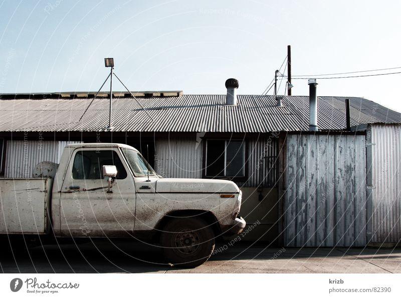 Farmlife Stall Lastwagen Ferien & Urlaub & Reisen Route 66 Landwirtschaft schädlich Einsamkeit Outback Bauernhof USA Ackerbau verloren Bruchbude trist Amerika