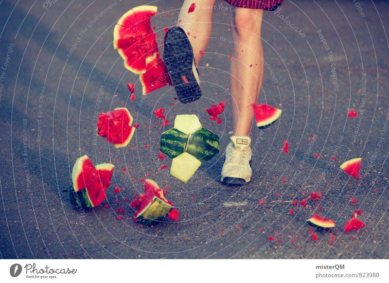WM-Euphorie. rot Gefühle Sport Kunst Foodfotografie Deutschland ästhetisch Fußball Kraft kaputt Teile u. Stücke Dynamik machen Kunstwerk spaßig