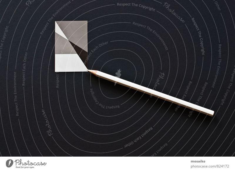 Bleistift auf grafischem Hintergrund Schreibtisch Tisch Arbeit & Erwerbstätigkeit Beruf Arbeitsplatz Büro Business Sitzung Computer Technik & Technologie Papier