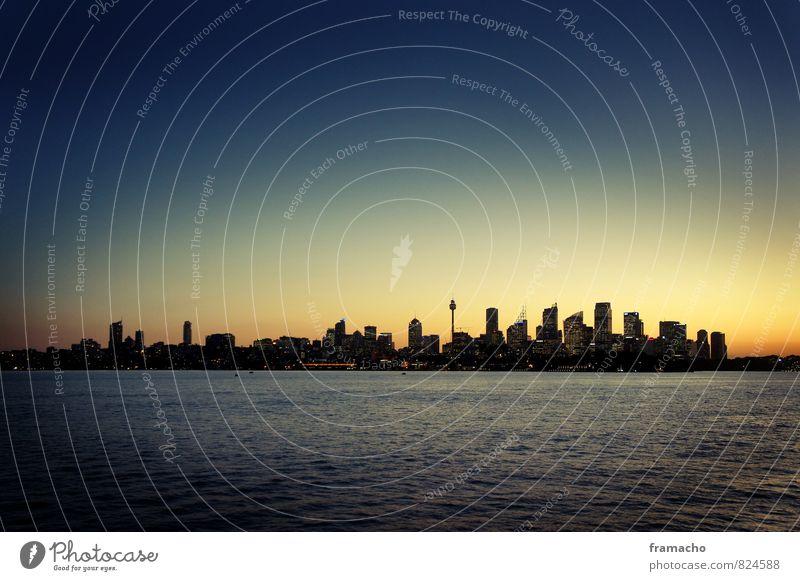Sydney Skyline Ferien & Urlaub & Reisen Stadt blau schön Sommer Ferne gelb Architektur Glück Freiheit Tourismus Hochhaus ästhetisch groß Ausflug Unendlichkeit