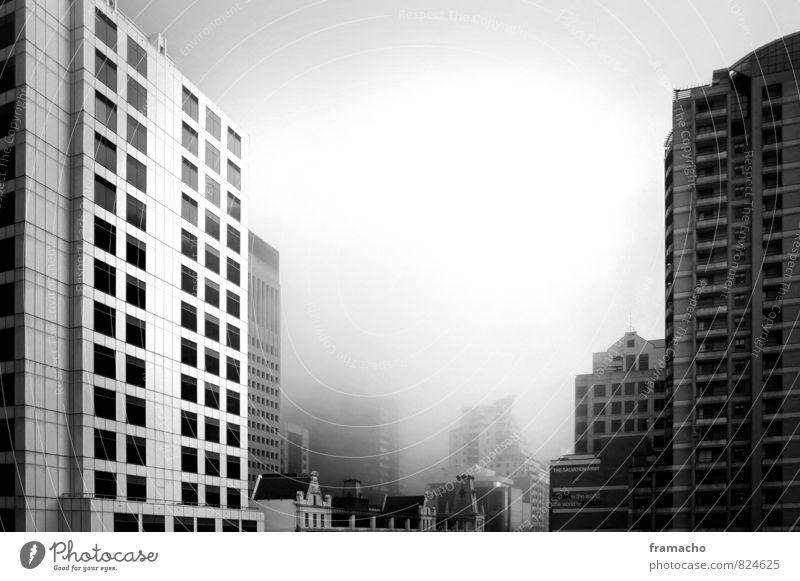 Sydney im Nebel Ferien & Urlaub & Reisen Stadt schön Ferne kalt Architektur Gebäude oben modern Hochhaus Erfolg Tourismus hoch ästhetisch Ausflug Dach