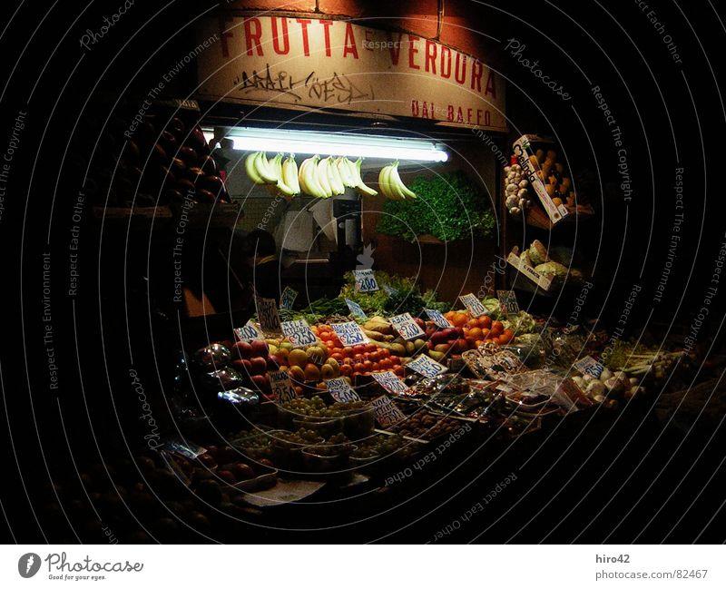 Bologna Markt Ferien & Urlaub & Reisen dunkel Frucht Italien Gemüse verkaufen