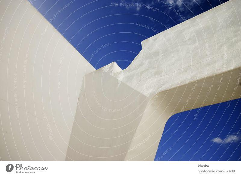 Greek Sky Himmel blau Sommer Ferien & Urlaub & Reisen Haus Erholung Mauer Wärme Bauernhof Spanien Putz Griechenland Süden Innenhof
