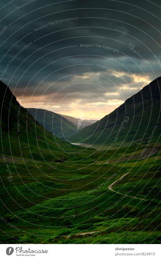 Magic Glencoe Ferien & Urlaub & Reisen Erholung ruhig Ferne Umwelt Berge u. Gebirge Gras Freiheit außergewöhnlich Felsen Zufriedenheit Tourismus wandern Ausflug