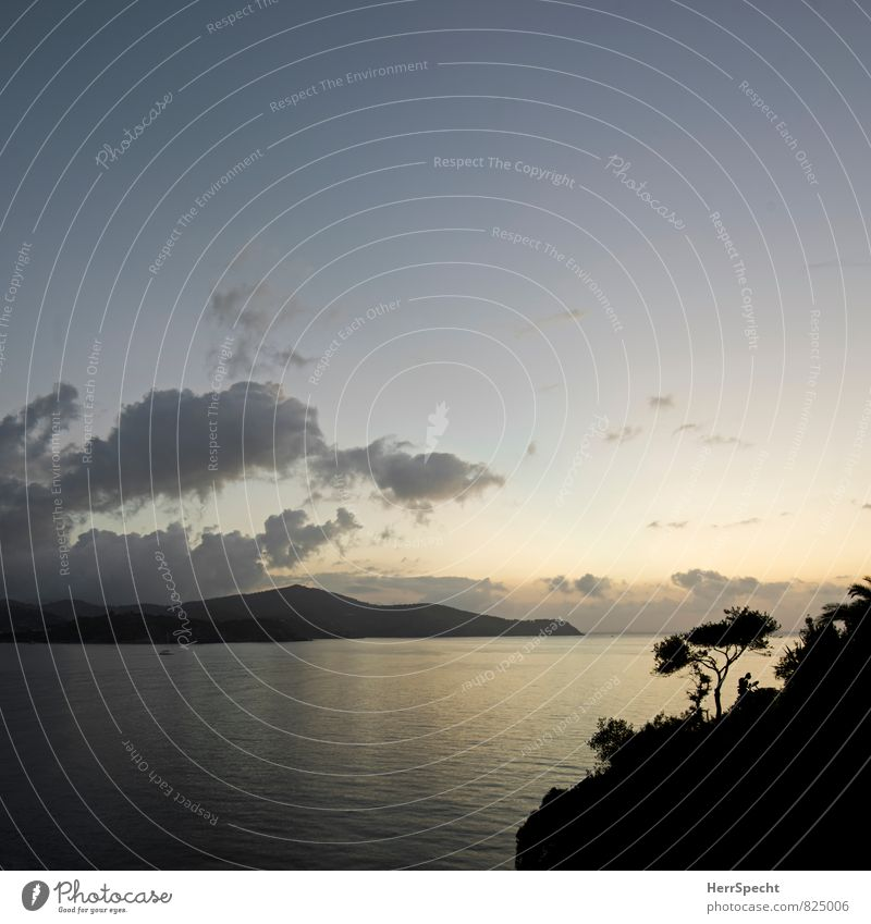 buona mattina Umwelt Natur Landschaft Himmel Wolken Hügel Wellen Küste Strand Bucht Meer Mittelmeer Insel Elba Italien Toskana ästhetisch maritim schön blau