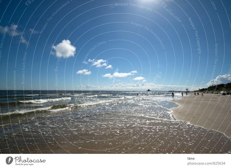 zwischen Himmel und Erde Wohlgefühl Zufriedenheit Schwimmen & Baden Ferien & Urlaub & Reisen Tourismus Ausflug Ferne Freiheit Insel Urelemente Sand Luft Wolken
