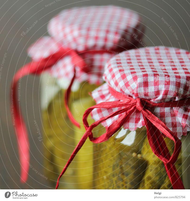 kost.bar | selbst eingekocht... schön grün weiß rot außergewöhnlich braun Lebensmittel Dekoration & Verzierung Glas stehen frisch ästhetisch Ernährung