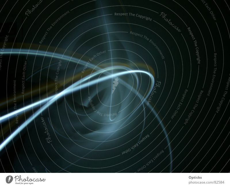 lightbox Lampe Licht Kreis Nebel Streifen Langzeitbelichtung Nacht Linie