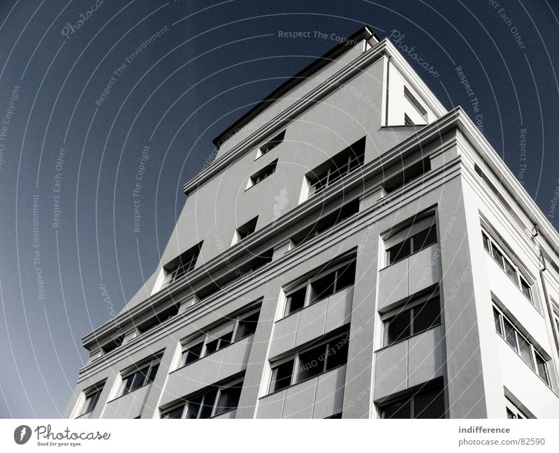 The Mill front view Stadt Himmel Italien modern mill architecture building window restructured sky blue