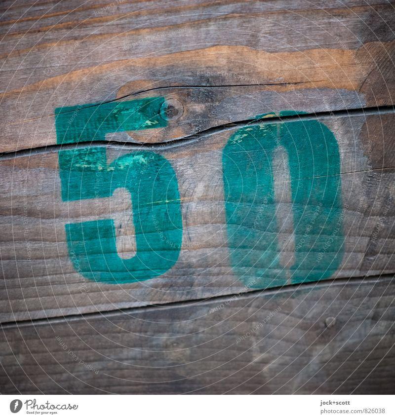 50 auf Holz Subkultur Straßenkunst Typographie Schilder & Markierungen einfach braun Kreativität Schablone Oberflächenstruktur verwittert Zahn der Zeit