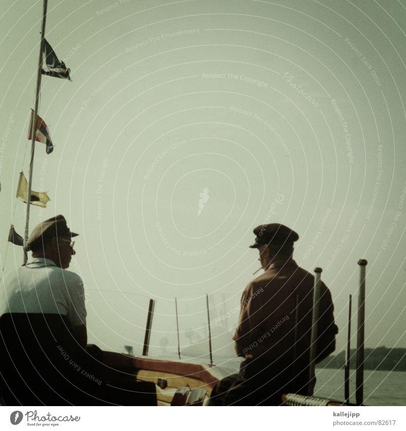 der blonde hans See Barkasse Motorboot Kapitän Beflaggung Ausflugsschiff U-Boot Mannschaftskapitän Wasserfahrzeug Dampfschiff Fahne Meer Schifffahrt maritim