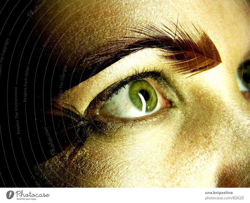 federn II Frau Gesicht Auge Perspektive Aussicht weich Feder Meinung Flirten Momentaufnahme staunen Brennpunkt Pupille fixieren Regenbogenhaut Einblick