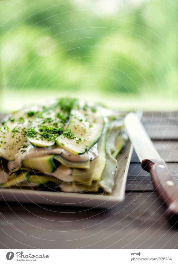 Zucchini-Lasagne Gemüse Teigwaren Backwaren Ernährung Mittagessen Bioprodukte Vegetarische Ernährung Messer frisch Gesundheit lecker grün Kräuter & Gewürze