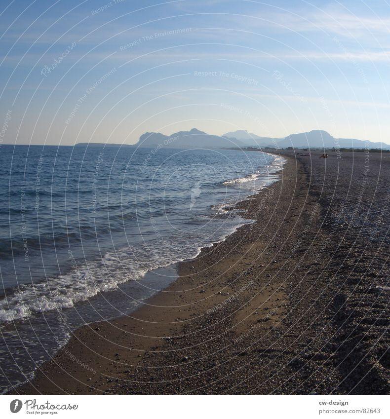 ein tag am meer Himmel schön Wasser Sommer Sonne Meer ruhig Strand Ferne Küste See Sand Horizont Luft Wellen mehrere