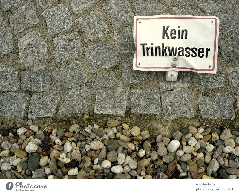 PETZE Straße Stein Erde Trinkwasser Schilder & Markierungen Schriftzeichen Hinweisschild Kommunizieren Bodenbelag Zeichen Buchstaben Landwirtschaft Asphalt