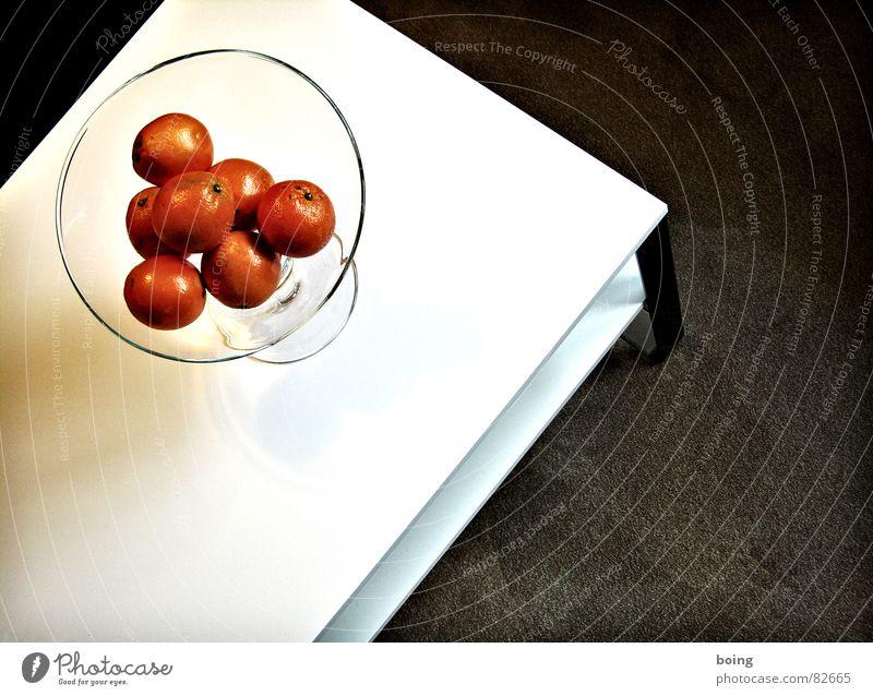 der Dreifach Geschmückte bereist die Kurpfalz Linie orange Orange Frucht Tisch süß Ecke Kreis Spitze Quadrat Wohnzimmer parallel Geometrie Schalen & Schüsseln