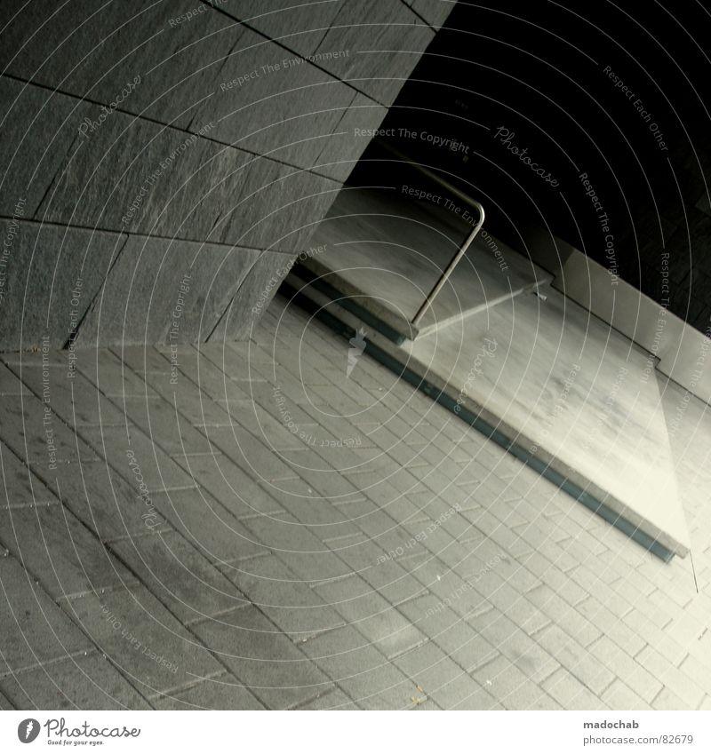 THIS IS HOW I FEEL Einsamkeit Winter Haus Tod kalt Architektur grau Traurigkeit Gebäude Stein Eis Arbeit & Erwerbstätigkeit Treppe Beton trist Baustelle