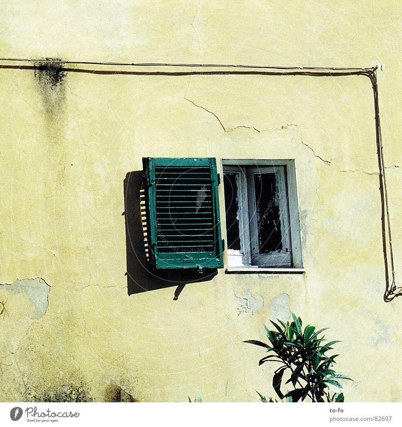 sommerloch Sommer Ferien & Urlaub & Reisen Fenster offen Kabel Italien heiß Leitung Toskana Fensterladen Sommerloch
