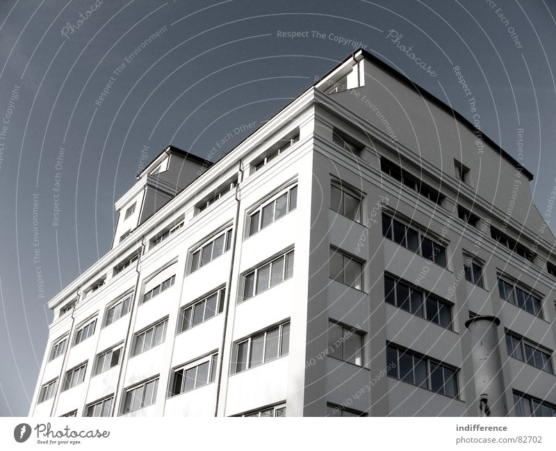 The Mill rear view Stadt Himmel Italien modern mill architecture building window restructured sky blue