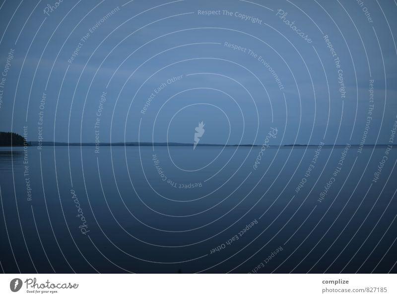dunkel-blau Ferien & Urlaub & Reisen Sommer Erholung Meer ruhig Strand Ferne Küste Freiheit See Abenteuer Seeufer Wellness Meditation Ruhestand