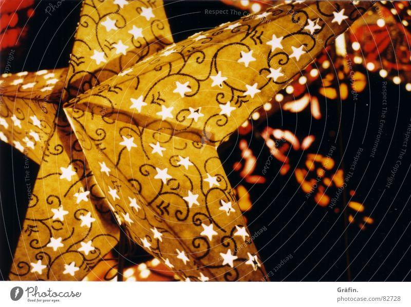 sternenhimmel gelb Licht Weihnachtsmarkt Dekoration & Verzierung Weihnachten & Advent Winter Stern (Symbol) Markt Feste & Feiern festlichkeit Beleuchtung