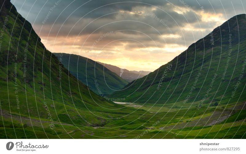 Magic Glencoe II Natur Ferien & Urlaub & Reisen Sommer Erholung Landschaft Ferne Berge u. Gebirge Umwelt außergewöhnlich Freiheit Horizont Zufriedenheit Wetter