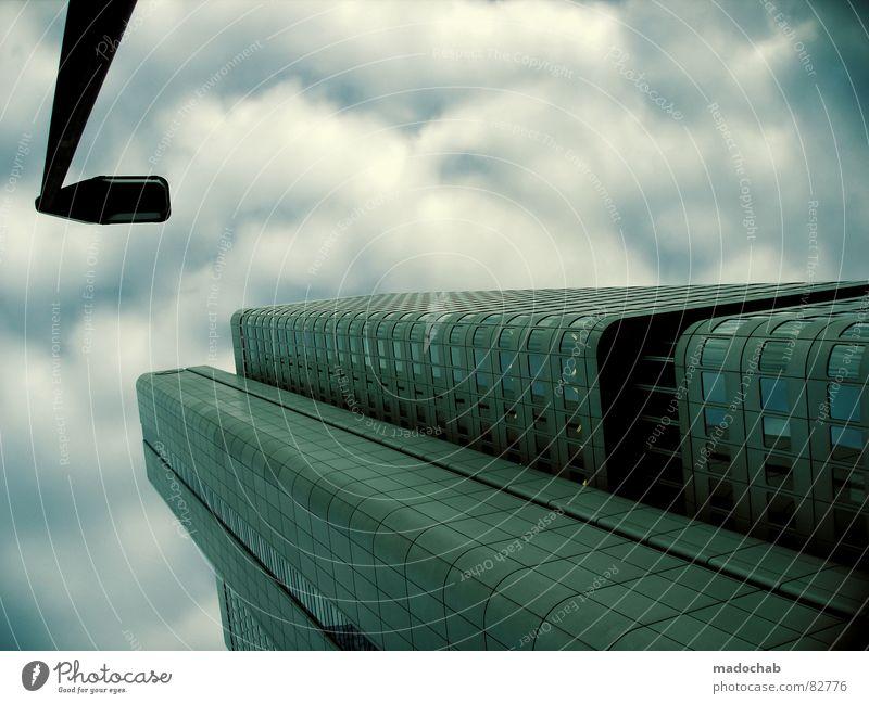 BLABLABABEL Himmel Stadt blau Wolken Haus Fenster Leben Architektur Gebäude Freiheit fliegen Business oben Arbeit & Erwerbstätigkeit Wohnung Design