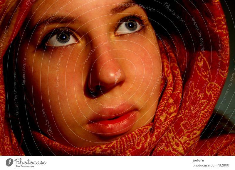 je t'aime Frau rot Gesicht Auge gelb Gefühle Kopf Wärme Religion & Glaube Mund Haut Nase Hoffnung Sicherheit Lippen Physik